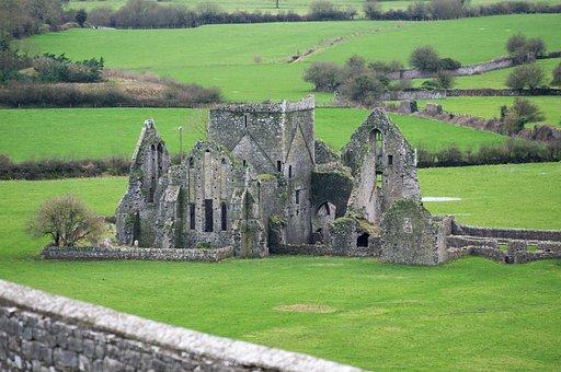 Ireland, Castle, Architecture, Landscape, Stone