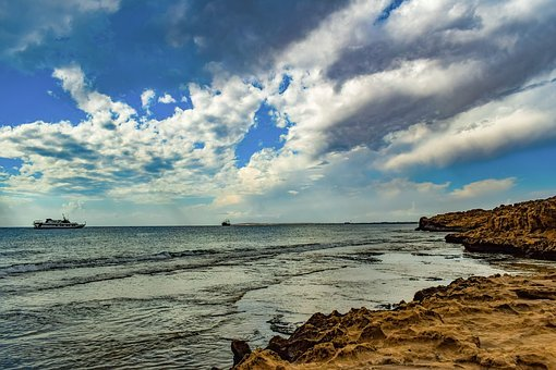 Rocky Coast, Landscape, Beach, Sky, Clouds, Peaceful