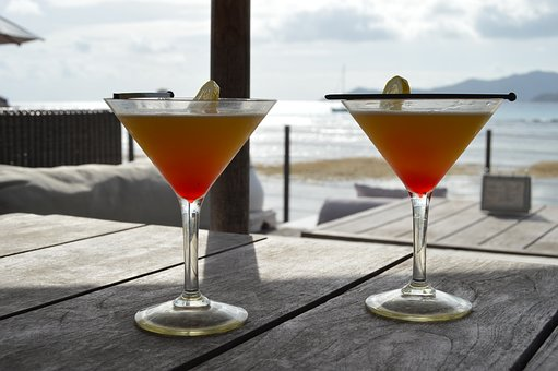 Cocktail, Drink, Summer, Glass, Fresh, Alcohol, Liquid