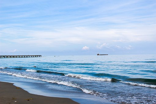 Sky, Beach, Ocean, Sea, Clouds, Costa, Landscape