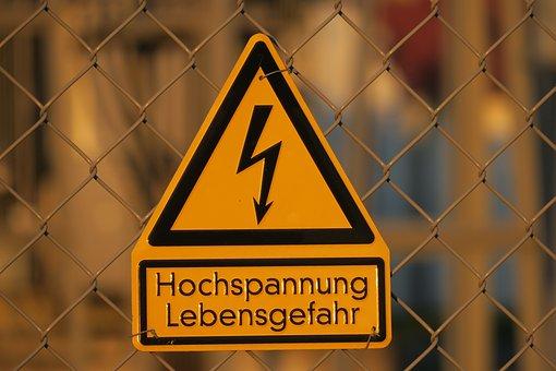 High Voltage, Danger Of Death, Caution, Dangerous