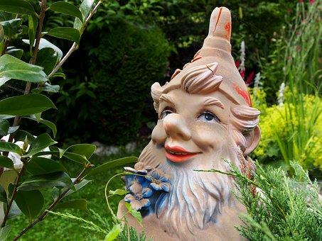 Garden Gnome, Garden, Dwarf, Figure, Imp, Decoration