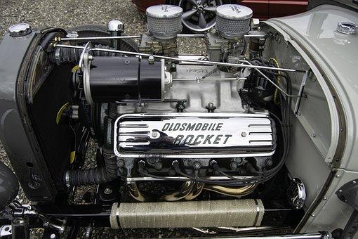 Engine, Oldsmobile, Oldsmobile Engine, Car