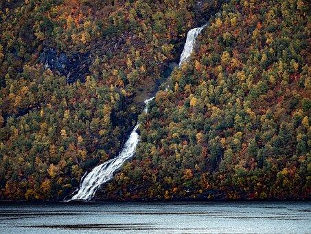 Fjord, Norway, Scandinavia, Rock, Water, Gorge