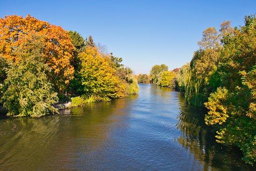 Alster, Hamburg, Autumn, Water, Waters