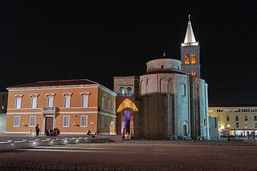 Zadar, City, Croatia, Night, Light, Holiday, History
