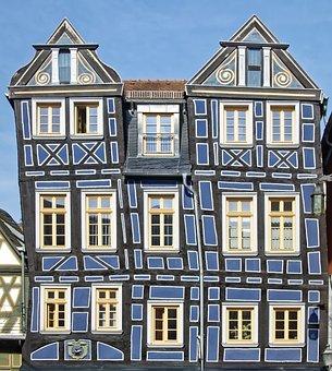Germany, Idstein, Historic Center, Truss, Facade