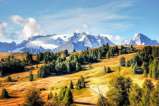 Marmolada, Dolomites, Italy, Alpine, Mountains