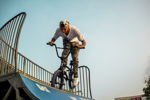 Bmx, Park, Dangerous, Bicycle, Jump, Person, Man