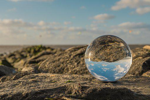 Glass Ball, North Sea, Lower Saxony, Wadden Sea