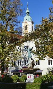 Miesbach, Bavaria, City, Architecture, Building