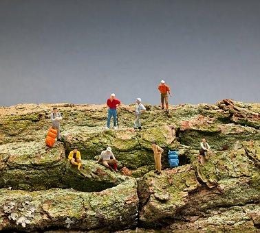 Model Railway, Figures, Wanderer, Wood, Toys, Miniature