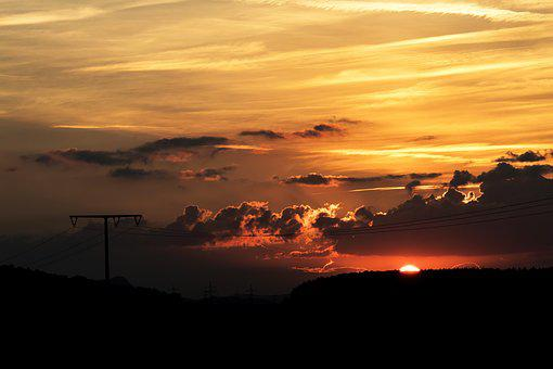 Sunset, Dusk, Sky, Landscape, Mood, Evening Sky, Orange