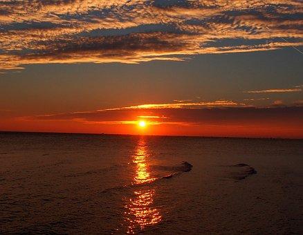 Sunset, Sun, Sky, Mood, Dusk, Clouds, Romantic, Evening