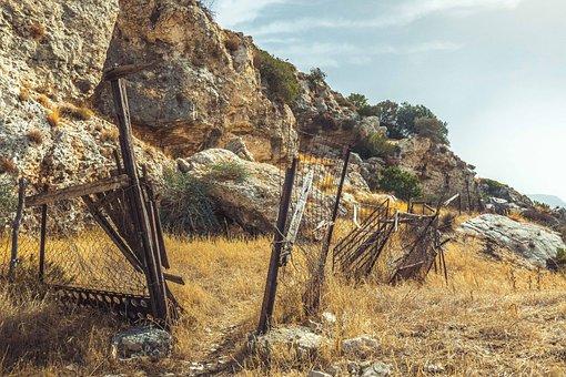 Fence, Mountain, Stone, Nature