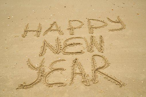 Sand, Beach, Article, New Year, Attention, Nature