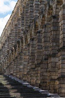 Spain, Segovia, Roman Agueduct, Historic, Architecture