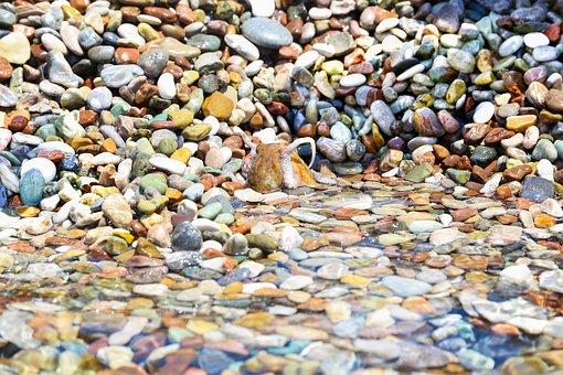 Sea, Stones, Octopus, Beach, Sand