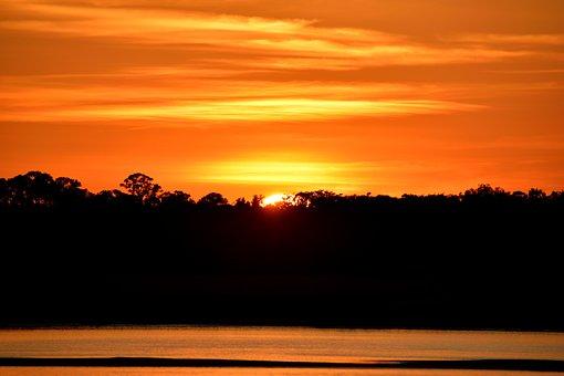 Sunset, Vibrant Color, Landscape, Nature, Orange Colors