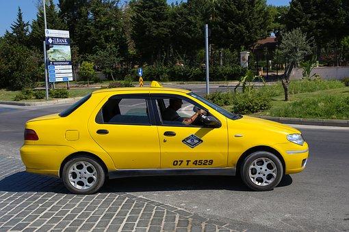 Taxi, Turkey, Travel, Journey, Yellow, Summer