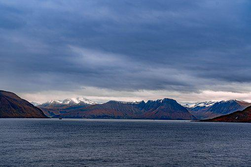 Norway, Fjord, Sea, Mountains, Water, Mountain, Clouds