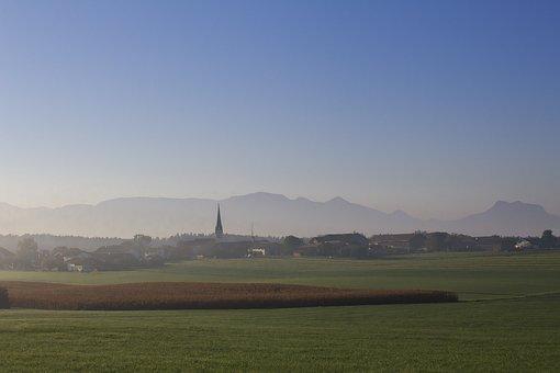 Village, Alpine, Landscape, Mountains, Nature, Panorama