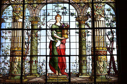 Stained Glass Window, Women, Art, Creation, Image, Girl