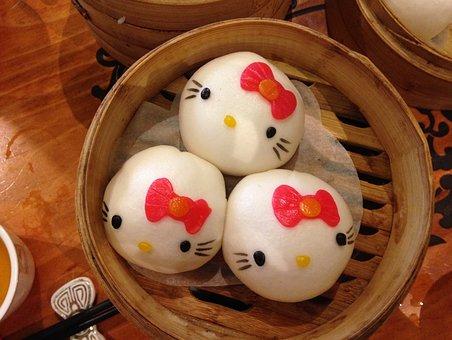 Hello Kitty, Dumplings, Asia, Asian Foods, Dumpling