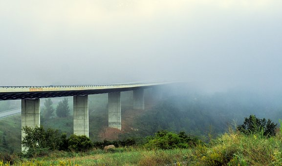 Fog, Time, Atmosphere, Atmospheric, Visibility, Highway