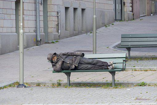 Homeless, Bench, City, Slum, Cold, Disease, Hunger