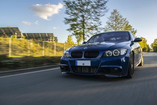 Car, Bmw, Fast, Auto, Vehicle, Sport, Blue, Movement