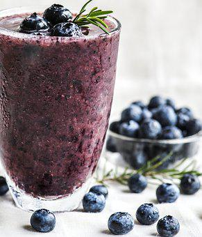 Antioxidant, Beverage, Blended, Blueberries, Blueberry