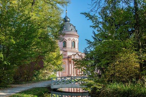 Schwetzingen, Schlossgarten, Castle Park, Bridge