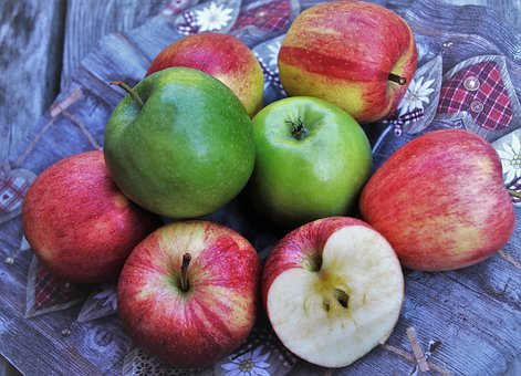 Diet, Tasty, Apples, Healthy, Delicious, Mature, Eat
