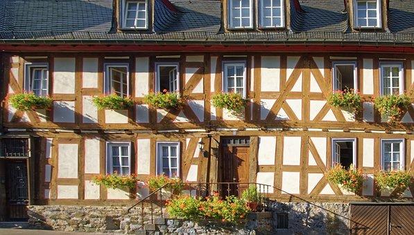 Germany, Braunfels, Historic Center, Building, Truss