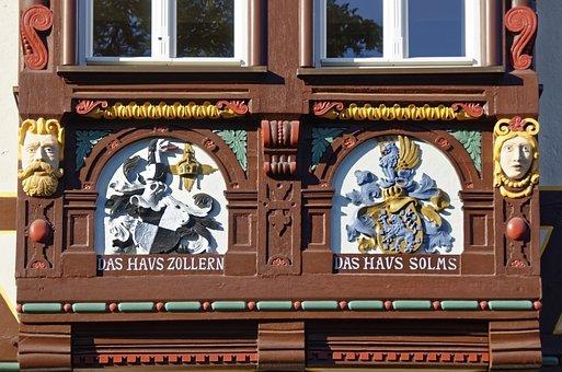 Germany, Braunfels, Historic Center, Truss, Facade