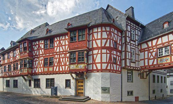Germany, Bad Camberg, Town Hall, Historic Center, Truss