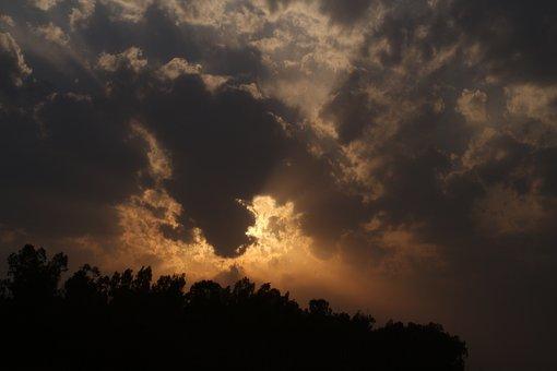 Golden Sky, Golden Hour, Clouds, Sunset, Landscape