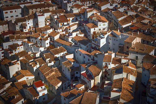 Roofs, People, Ceilings, Group, Houses, Village