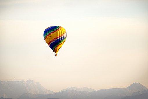 Balloon, Mountains, Alpine, Hot Air Balloon Ride