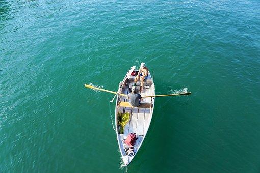 Boat, River, Human