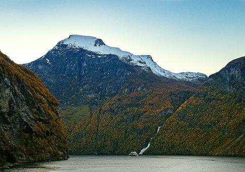 Norway, Fjord, Geiranger, Mountains, Rock, Lake, Water