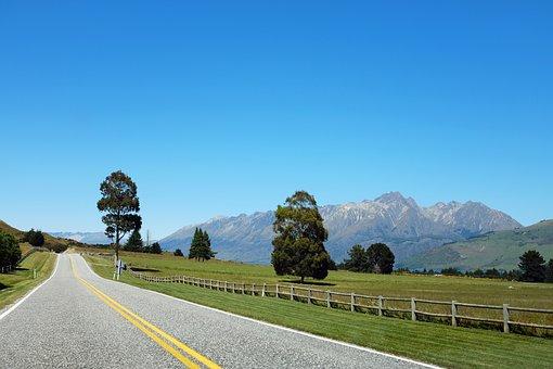 Road, Landscape, Nature, Morning, Field, Landscapes