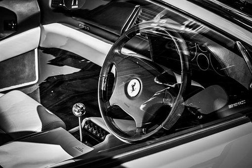 Ferrari, Steering Wheel, Car, Luxury, Vehicle, Interior
