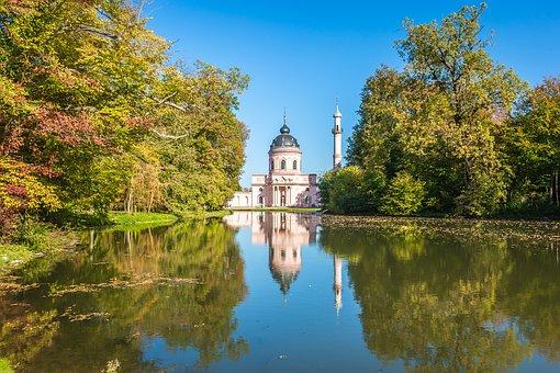 Schwetzingen, Mosque, Red Mosque, Orient, Schlossgarten