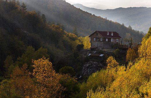 Mountain, Historic House, Forest, Doga, Landscape