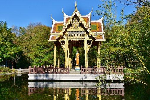 Pagoda, Nepali, Westpark, Munich, Sendling, Park