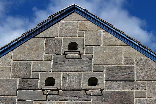 Pierre, Roof, Nest Box, Nest, Old, Wall, Building