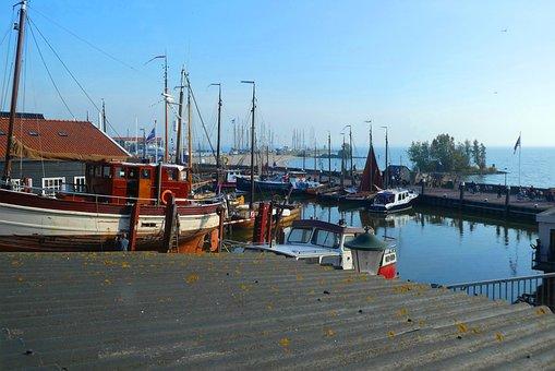 Port, Urk, Boats, Netherlands, Fishing Village, Boat