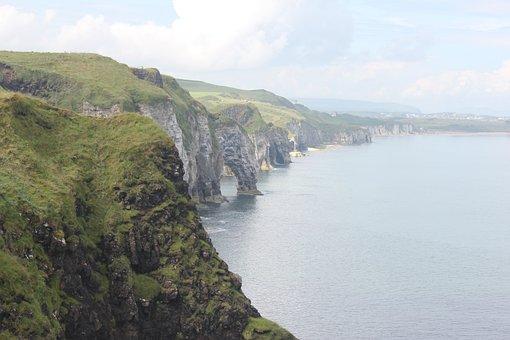 Cliffs, Ireland, Ocean